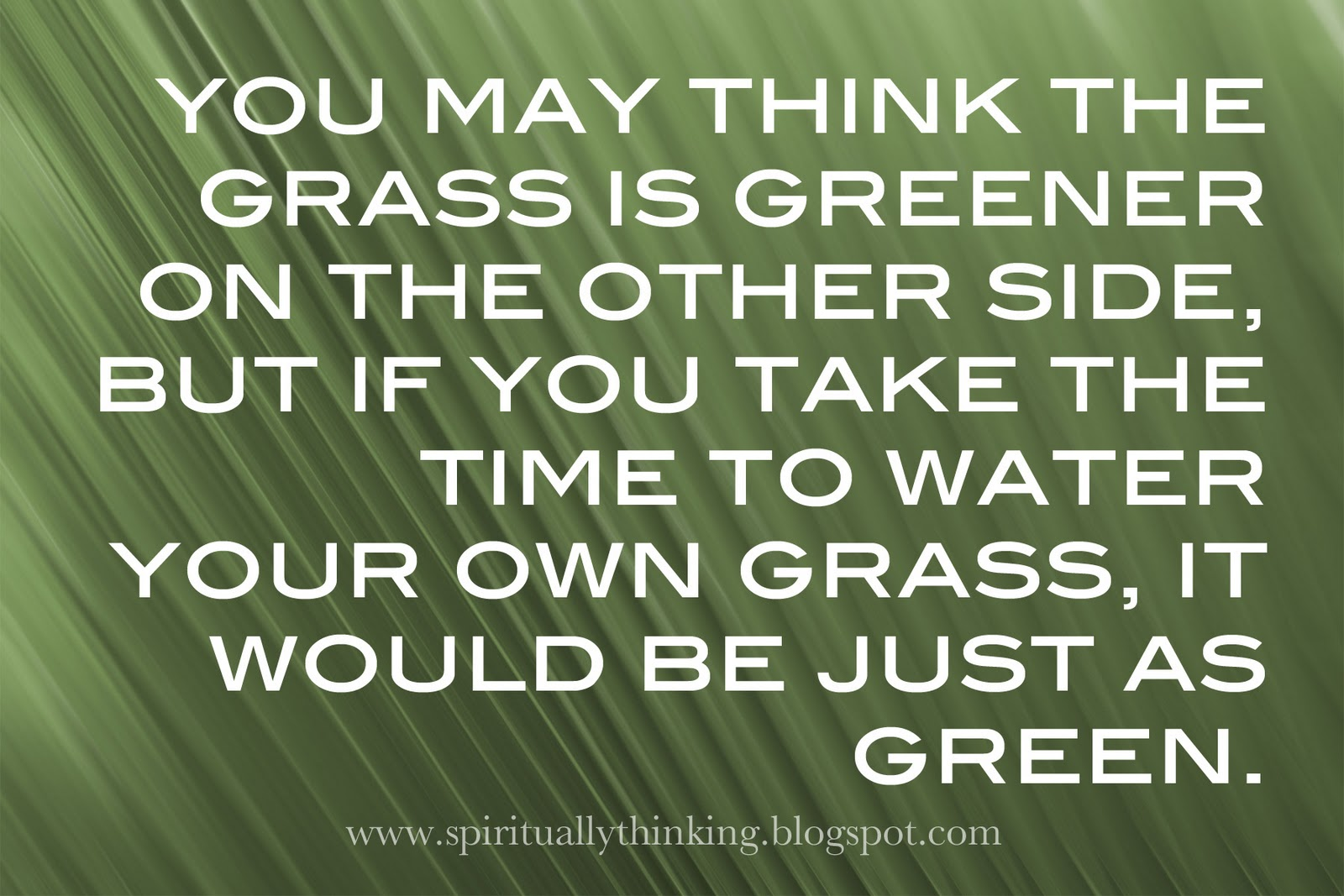 essay on the grass is always greener on other side Check out our top free essays on grass is always greener on the other side to help you write your own essay.