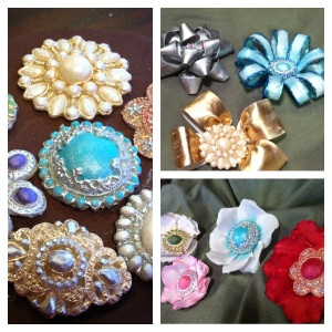 bling bows fantasy flowers